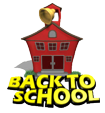 School house ringing bell for back to school